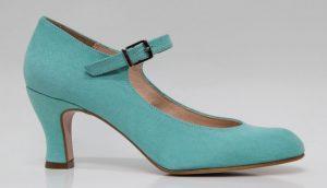 zapato de flamenca, zapatos para la feria, zapatos de sevillanas