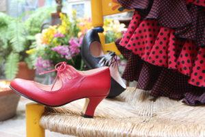 zapato de feria, zapato de flamenca, tacones de flamenca