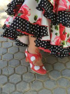 zapato de feria, zapato de flamenca, tacones de feria